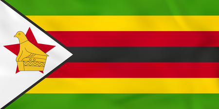 zimbabwe: Zimbabwe waving flag. Zimbabwe national flag background texture. Vector illustration.