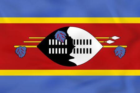 Swaziland waving flag. Swaziland national flag background texture. Vector illustration.