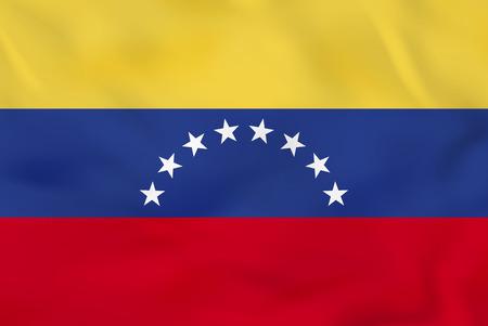 Venezuela waving flag. Venezuela national flag background texture. Vector illustration.