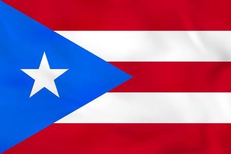 Puerto Rico waving flag. Puerto Rico national flag background texture. Vector illustration.
