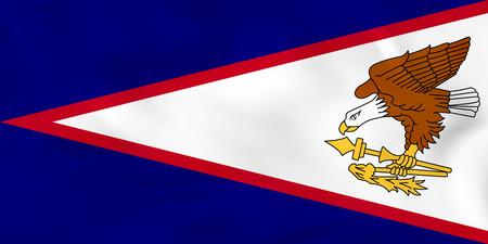 American Samoa waving flag. American Samoa national flag background texture. Vector illustration.