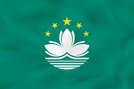 macau: Macau waving flag. Macau national flag background texture. Vector illustration. Illustration