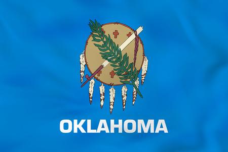 oklahoma: Oklahoma waving flag. Oklahoma state flag background texture.Vector illustration.