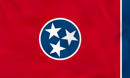Tennessee waving flag. Tennessee state flag background texture.Vector illustration.