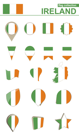 flag: Ireland Flag Collection. Big set for design. Vector Illustration. Illustration