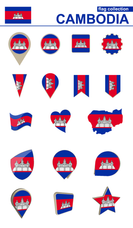 Cambodia flag collection.