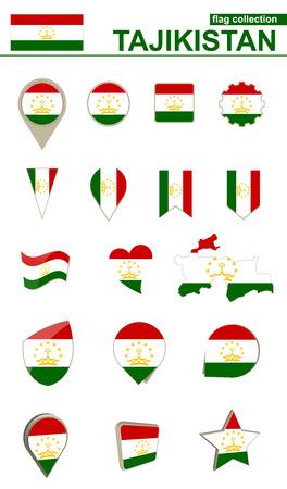 geographical: Tajikistan flag collection.