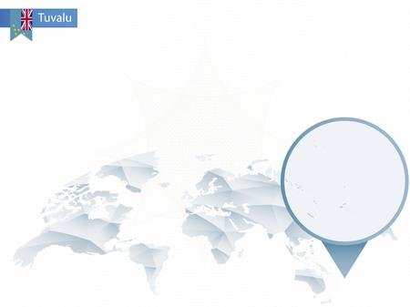 Tuvalu Regional Map Nauru On World Globe Flag Regional - Tuvalu map