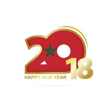 Year 2018 Happy New Year Design illustration.