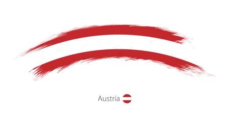 Flag of Austria in rounded grunge brush stroke