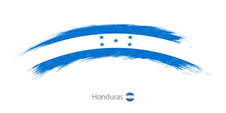 Flag of Honduras in rounded grunge brush stroke. Vector illustration. Illustration