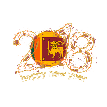 2018 happy new year sri lanka grunge vector template for greeting 2018 happy new year sri lanka grunge vector template for greeting card calendars 2018 m4hsunfo