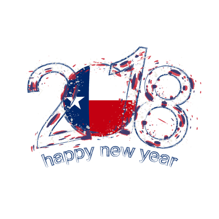 2018 Happy New Year Texas US State