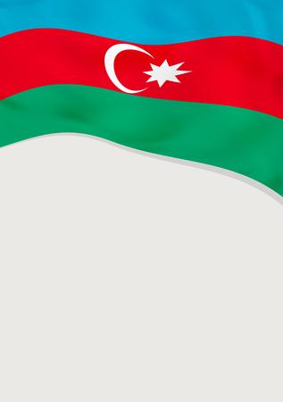 Leaflet design with flag of Azerbaijan. Vector template.