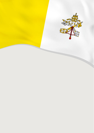 Leaflet design with flag of Vatican City. Vector template.