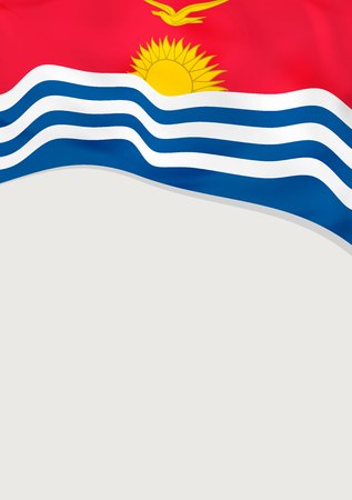 Leaflet design with flag of Kiribati. Vector template.