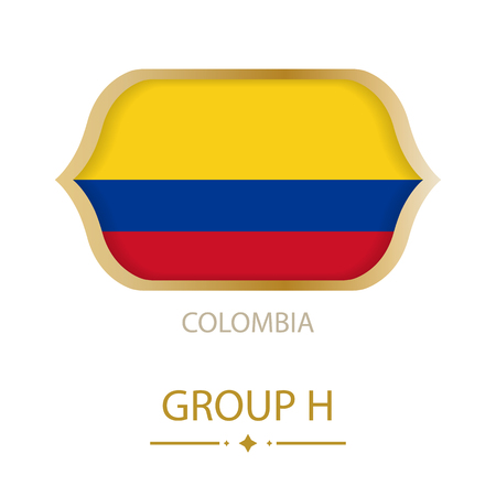 The flag of Colombia is made in the style of the Football World Cup