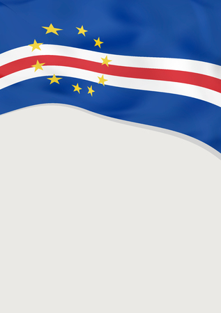 Leaflet design with flag of Cape Verde. Vector template.