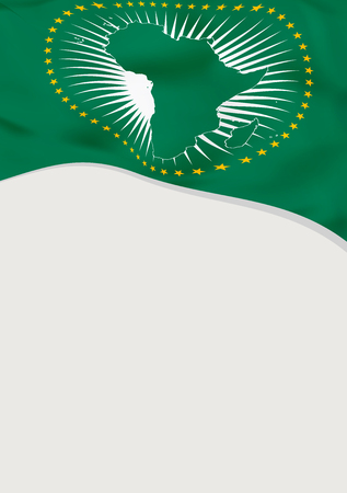 Leaflet design with flag of African Union.