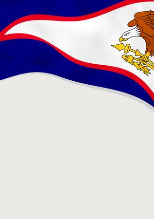 Leaflet design with flag of American Samoa.