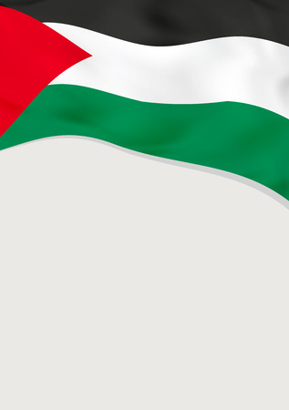 Leaflet design with flag of Palestine. 向量圖像