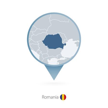 Kaartspeld met gedetailleerde kaart van Roemenië en buurlanden.