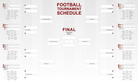 A tournament schedule Vector Soccer Bracket.