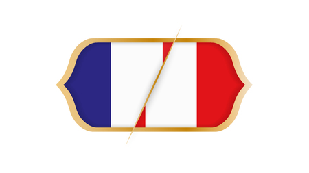 Soccer world championship France vs Peru. Vector illustration.