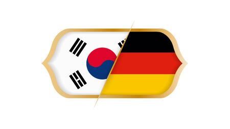 Soccer world championship South Korea vs Germany. Vector illustration. Illustration