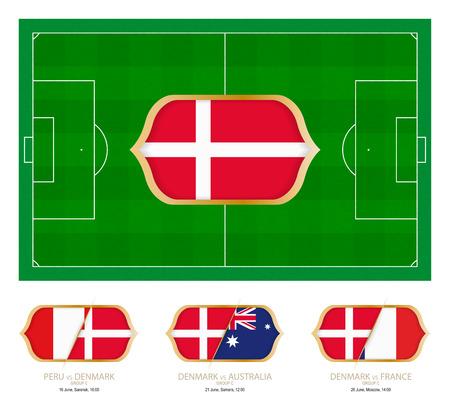 All games by Denmark soccer team in group C. Vettoriali