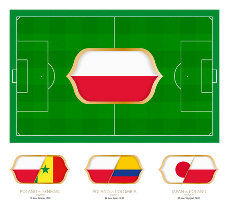 All games by Poland soccer team in group H. Ilustração