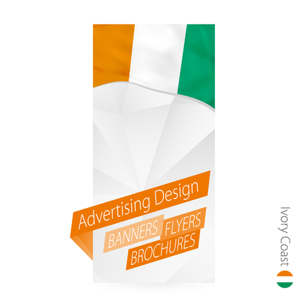Vector abstract banner template for Ivory Coast. Advertising template with flag of Ivory Coast.