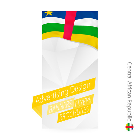 Vector abstract banner template for Central African Republic. Illustration