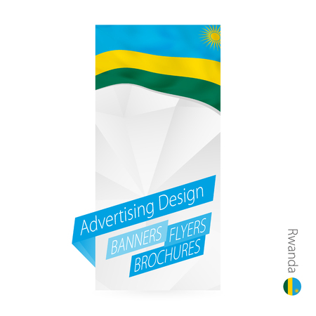 Vector abstract banner template for Rwanda. Advertising template with flag of Rwanda.