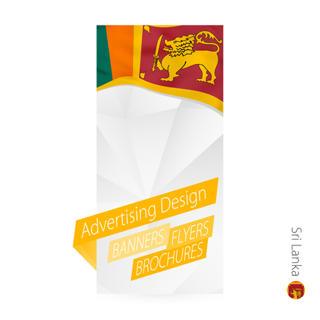 Vector abstract banner template for Sri Lanka. Advertising template with flag of Sri Lanka.