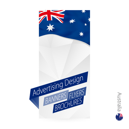 Vector abstract banner template for Australia. Advertising template with flag of Australia.