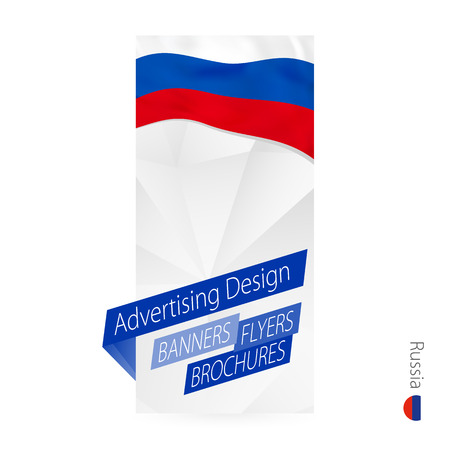 Vector abstract banner template for Russia. Advertising template with flag of Russia.