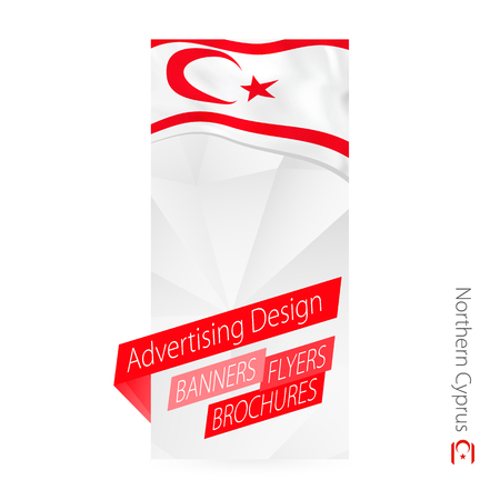 Vector abstract banner template for Northern Cyprus. Advertising template with flag of Northern Cyprus. Ilustracja