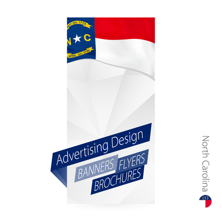 Vector abstract banner template for US state North Carolina. Advertising template with flag of North Carolina.