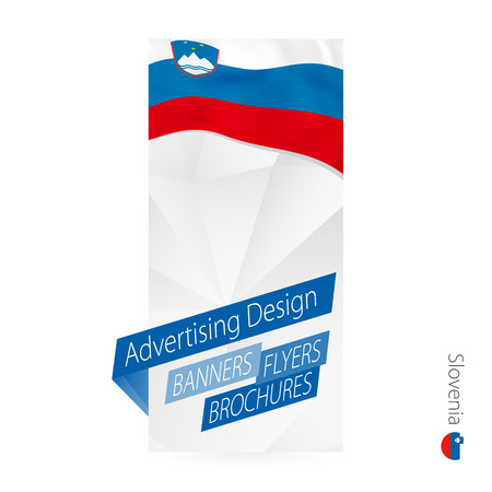 Vector abstract banner template for Slovenia. Advertising template with flag of France.