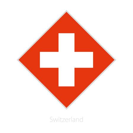 Flagge der Schweiz Teilnehmer des Europa-Fußballwettbewerbs. Vektor-Flag.