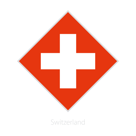 Flag of Switzerland participant of the Europe football competition. Vector flag.