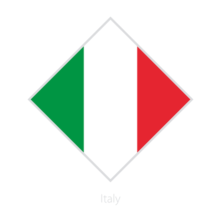 Flag of Italy participant of the Europe football competition. Vector flag. Illustration