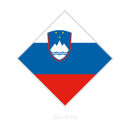 Flag of Slovenia participant of the Europe football competition. Vector flag.