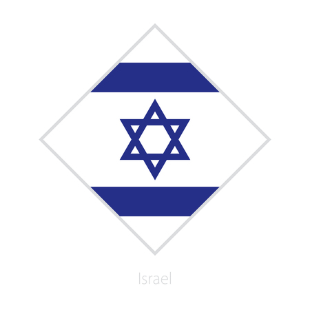 Flag of Israel participant of the Europe football competition. Vector flag.