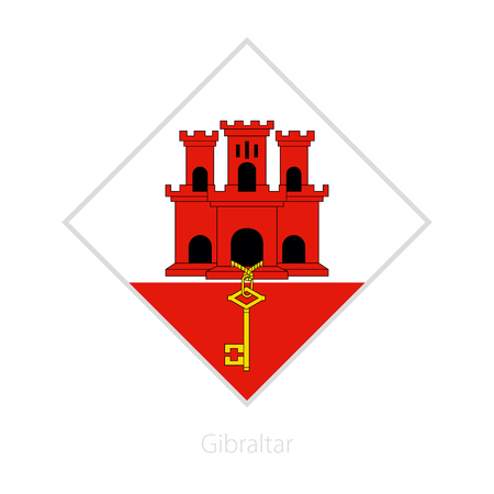 Flag of Gibraltar participant of the Europe football competition. Vector flag. Illustration