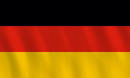 Germany flag with waving effect, official proportion. Illustration