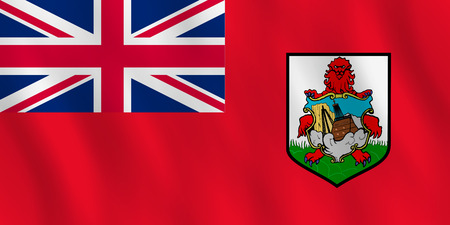 Bermuda flag with waving effect, official proportion.