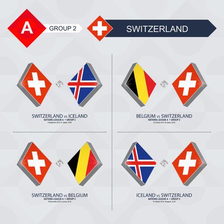 サッカー国リーグでスイスのすべてのゲーム。