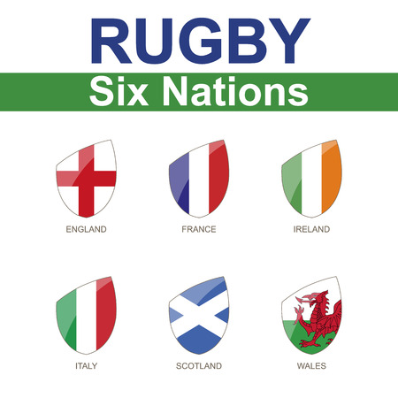 Rugby Six Nations Championship, 6 Flag Illustration